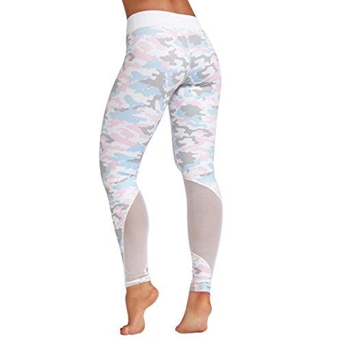TWIFER Damen Hohe Taille Sport Kleidung Yoga Laufen Fitness Leggings Athletische Hosen (Weiß, XL)