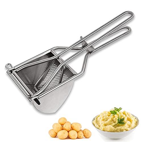 DASIAUTOEM Kartoffelpresse Edelstahl, Multifunktionale Saftpressen Kartoffelquetsche Kartoffelpresse Triangel Kartoffelstampfer für Kartoffelbrei, Baby Flauschige Rezepte, Gemüsebrei, Püree-Länge 30cm