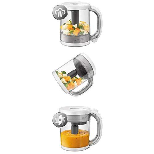 Philips Avent 4-in-1-Babynahrungszubereiter SCF883/01, Dampfgaren und Mixen, 4 Mahlzeiten, weiß
