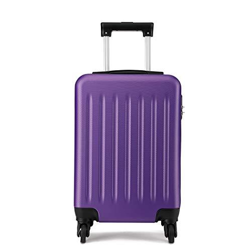 Kono Hardside Hand Luggage 4 Wheeled Spinner 19 inch Purple