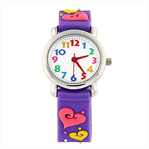 Bysion Reloj AnalóGico para NiñOs, Chica Tiempo Maestro Reloj De NiñO Reloj De Cuarzo para NiñOs Impermeable Reloj De Juguete De EnseñAnza para NiñOs NiñAs