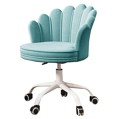 Duriano Velvet Home Office Chair Ergonomischer Schreibtischstuhl Accent Chair Verstellbarer Computerstuhl Drehstuhl mit Rückenlehne Weißer Metallfuß