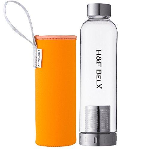H&F BELX ティータンブラー(M 550ml)-軽量茶こし付き水筒- (オレンジ)