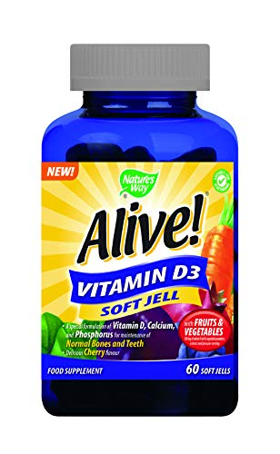 Alive! Men's 50+ Soft Jell Multivitamins - 60 chewable Gummies