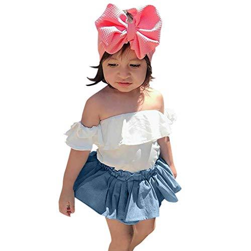 Moneycom - Conjunto de ropa para bebé de tul y chic, color blanco blanco 6-12 Meses