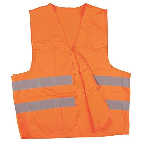 werkstatt-king.de Warnweste, Sicherheitsweste, Pannenweste mit Reflexstreifen EN ISO 20471-2 Farben in S, M, L, XL, XXL, XXXL - VPE = 3 Stück, Farbe:orange, Größe:XL