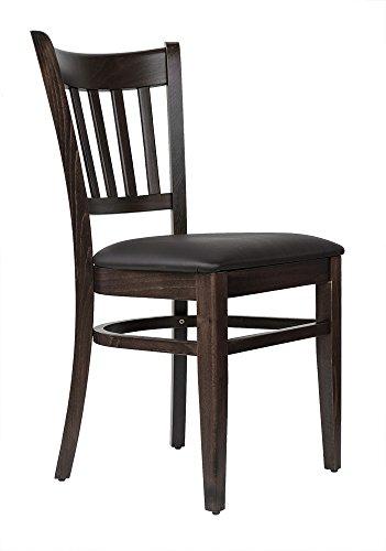 abritus Set 2 Stühle Stuhl Esszimmerstuhl Küchenstuhl Buche Massiv braun gepolstert »T002«