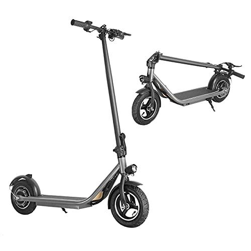 LIZONGFQ Scooter eléctrico para Adultos, Velocidad de 25 km/h, neumáticos de 110 '', Scooter eléctrico Plegable y portátil de cercanías, Sistema de Freno Doble, batería de Litio 18650 Power