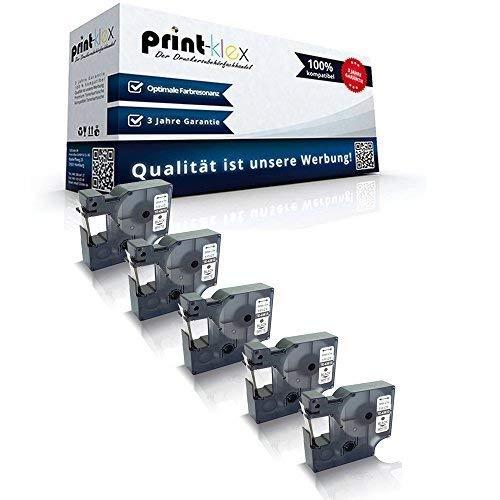 5x compatibel voor Dymo D1 43613 Labelmanager220P Labelmanager360D Labelmanager400 S0720780 6mm stickers zwart/W - kantoor per serie