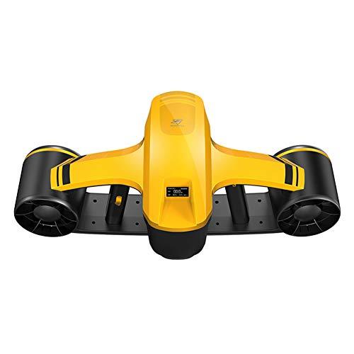 R-SeaFei Scooter Submarino, Scooter Submarino para Nadar O Bucear, con Montaje De Cámara, Tablero De Instrumentos OLED, Series De Buceo,Yellow