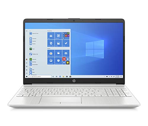 "HP - PC 15-dw1016nl Notebook, Intel Core i7-10510U, RAM 8 GB, SSD 256 GB, NVIDIA GeForce MX130 2 GB, Windows 10 Home, Schermo 15.6"" FHD SVA, Lettore Micro SD, USB, USB-C, HDMI, Webcam, RJ-45, Argento"