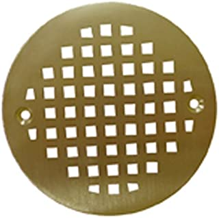 Plumbest C60-807 Decorative Shower Stall Drain Replacement Strainer with Screws, Polished Brass