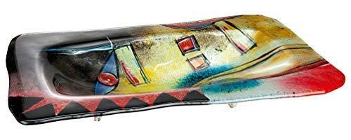 GILDE GLAS art Design-Schale - Dekoobjekt handgefertigt aus Glas 50 x 32 cm