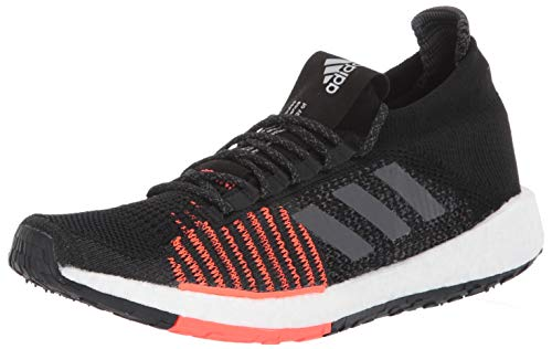 adidas Originals Men's PulseBOOST HD Running Shoe, Black/Grey/Solar Red, 8.5 M US