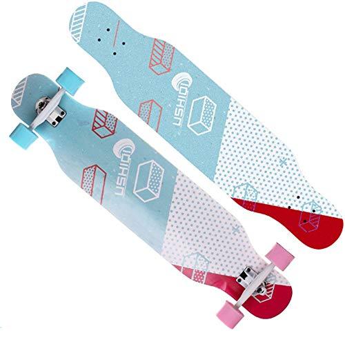 XUMINGHB Professionele double kick trick skateboard ABCE- 5 lagerdek compleet board 7-laags Hard esdoorn dek 42 lnches belasting 440 lbvoor beginners