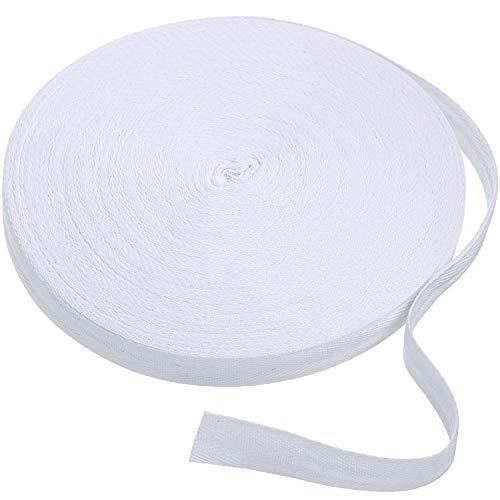 50 Yard Cotton Twill Tape Ribbon Beige, 1//2 Inch Soft Natural Webbing Tape Herringbone Bias Tape for Sewing DIY Craft