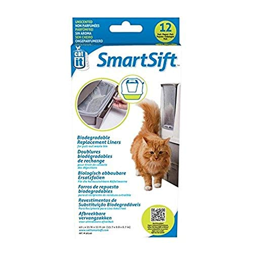 catit 50540 Smart Sift Sacchetto Biodegradabile per Vasca Lettiera, 40X25X22 cm