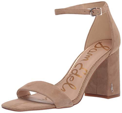 Sam Edelman Women's Classic Daniella Heeled Sandal, Oatmeal Suede, 5.5 Medium US