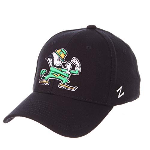 University of Notre Dame Fighting Irish ND Irishman marineblau DHS Top Herren/Damen Flex Fitted Hat/Cap Größe L 7 1/2 & 7 3/8