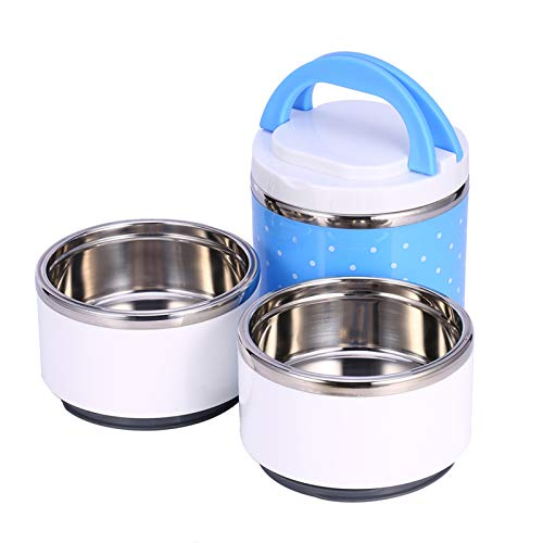 Fiambrera Térmica, Caja De Almuerzo/Refrigerio, Tarro De Comida Portátil, Azul Para Niños, Adultos, Para Viajes De Picnic Al Aire Libre