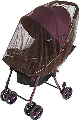 ZHONGXIN 2Pcs Universal Mosquitera Carrito Bebé, Mosquitera Bebé silla de paseo y cuna de viaje resistente (Coffee)