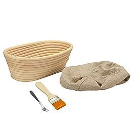 Panier à pain Banneton | Panier à bol de pâte à cuisson Brotform | Levain levain levant pâte de rotin | Fourchette à…