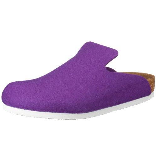 Birkenstock Davos 142261, Unisex - Erwachsene Clogs & Pantoletten aus Wolle, Violett (Lila), EU 37 (normal)
