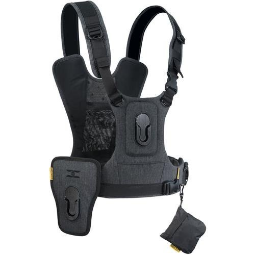 Cotton Carrier G3 Dual Camera Harness for 2 Camera's Gray
