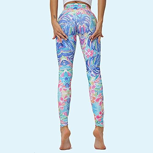 ArcherWlh Yoga Pants For Women Butt Lifting,Plantas de Secado rápido Transpirables de Pantalones de Yoga Leggings Mujer-Milk White 6124 Pantalones_SG