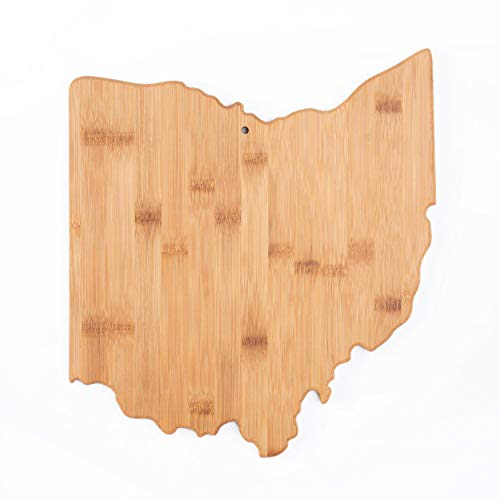 Ohio State Shaped Bamboo Serving & Cutting Board, Ohio State Gifts - Unique Wall decor for Home...