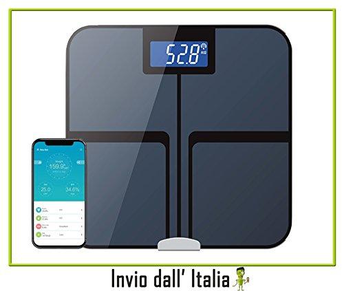Newnet Balanza Báscula Digital con pantalla retroiluminada, pilas AAA incluidas, báscula electrónica 180kg/400lb