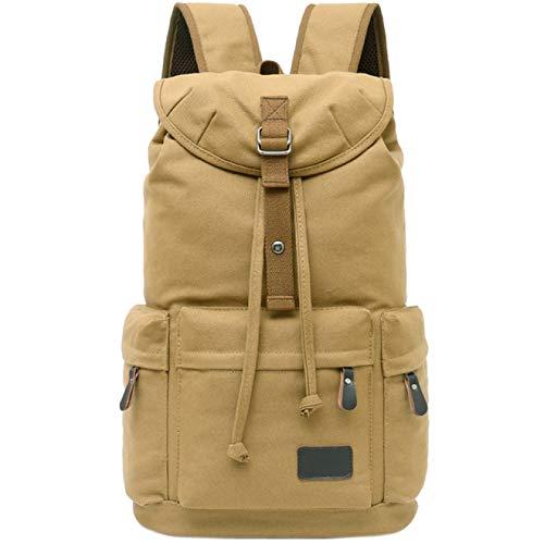 YFFSBBGSDK Men'S Backpack Vintage Backpack Leather Shoulder Bag Men And Women Backpack School Bag Neutral Canvas Casual Canvas Travel Bag