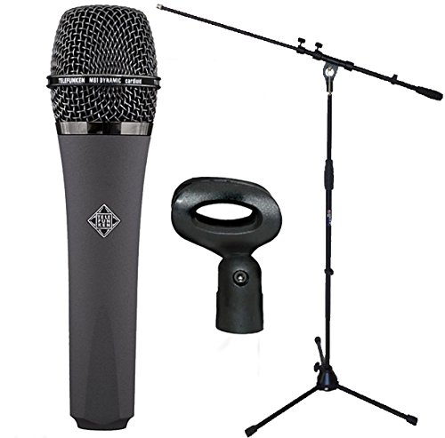 Micrófono dinámico M81 de Telefunken y soporte de micrófono Keepdrum