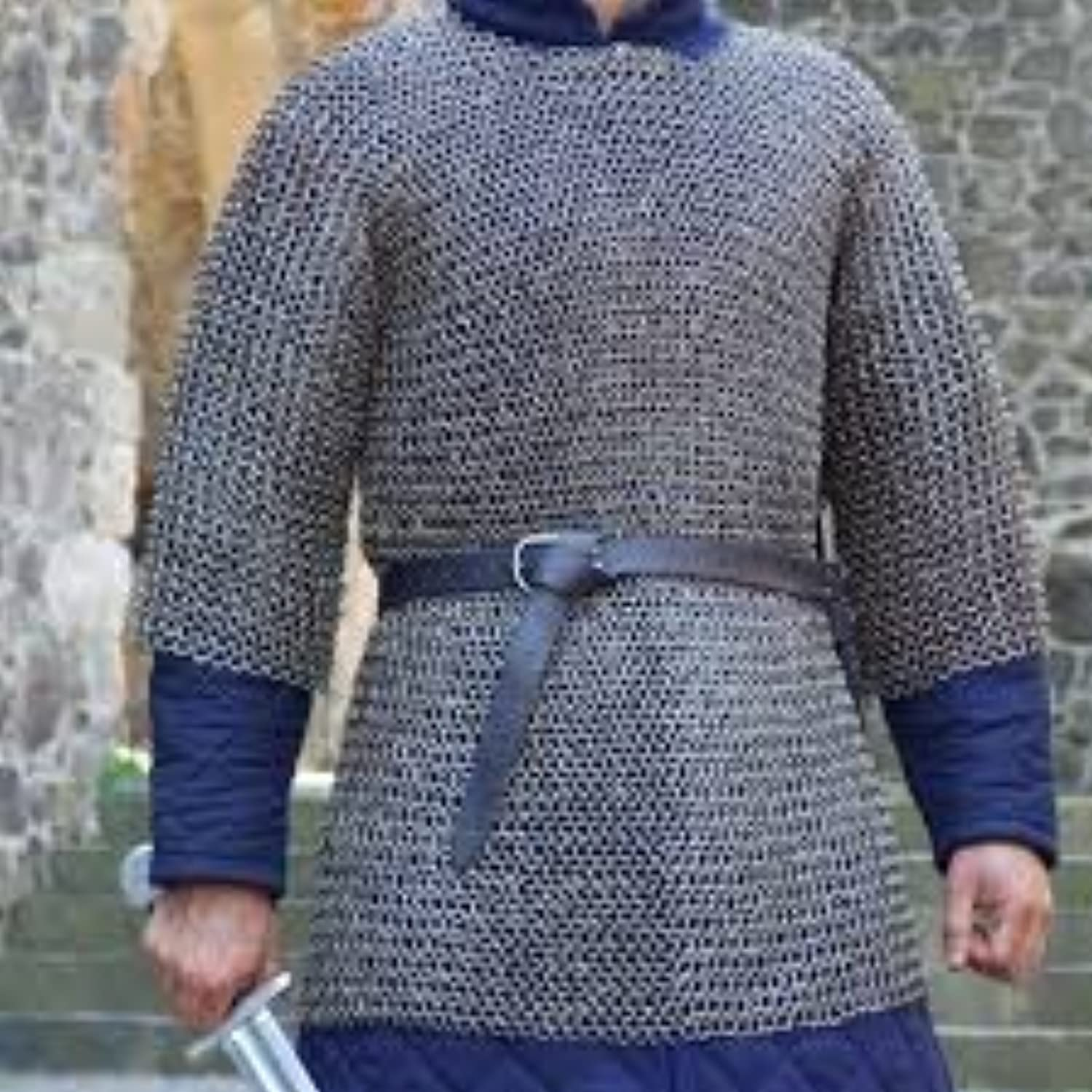 Flat Rivet with Flat Washer Chainmail XL Size Half Sleeve Hubergion Shirt Zinc