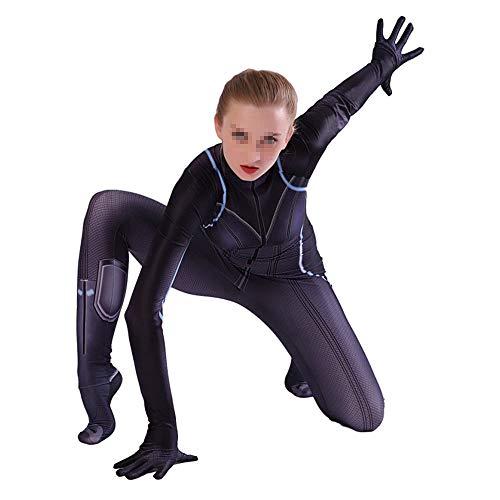 ZZX Disfraz De Viuda Negra De Halloween, Disfraz De Cosplay del Anime De Los Vengadores, Disfraz De Superhéroe, Estilo 3D - Niños/Adultos (S-XXXL),Child-S
