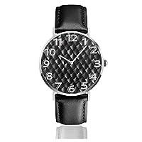 腕時計 プレーンスケールアーマーブラック ウォッチ 極薄型 シンプル ファッション クォーツ時計 38mm文字盤 レザーバンド 男女兼用