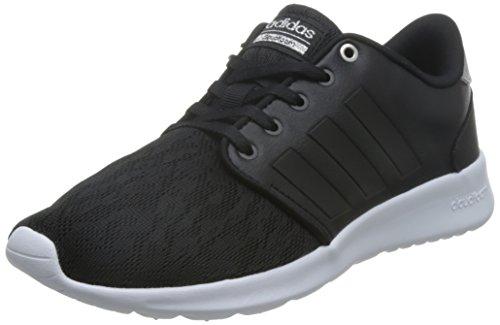 adidas NEO Damen Sneaker Cloudfoam QT Racer W Core Black/Core Black/Silver met. 42 2/3