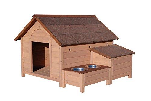 Niches en bois chien - Niche Chien Ontario en Bois Extra-Large + 2...