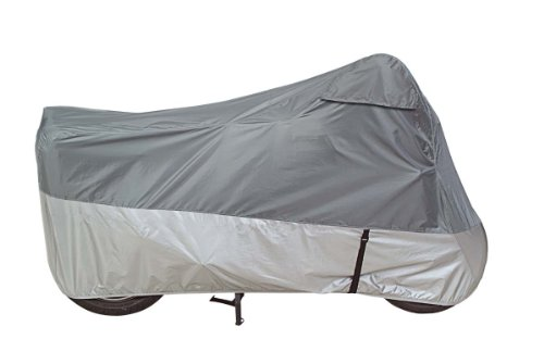 Dowco Guardian 2603600 UltraLite Plus Water Resistant Indoor/Outdoor Motorcycle Cover: Grey Large