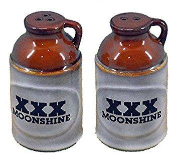 """3-3/4"""" Moonshine Salt & Pepper Shakers"""