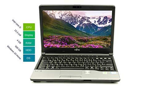 Fujitsu Lifebook S762 33,78 cm 13,3 Zoll | Leistungsstarker Laptop | Intel Core i5 2x 2.6GHz 4GB RAM 500 GB HDD Win 10 Home Tastatur DE Intel HD Graphics 3000 | 1,9 kg schwatz/silber (Generalüberholt)