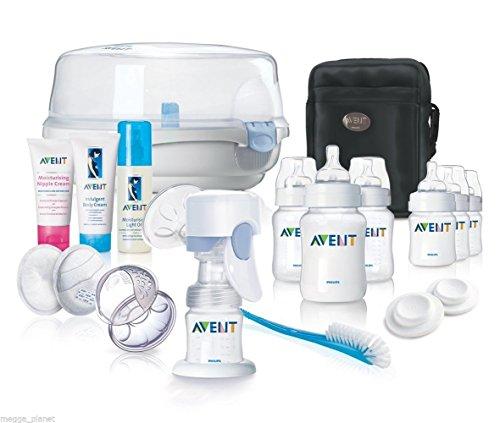 Philips AVENT 14piezas Classic recién nacido Essentials Set, incluye extractor de leche eléctrico, esterilizador, botellas, bolsa de viaje y mucho más