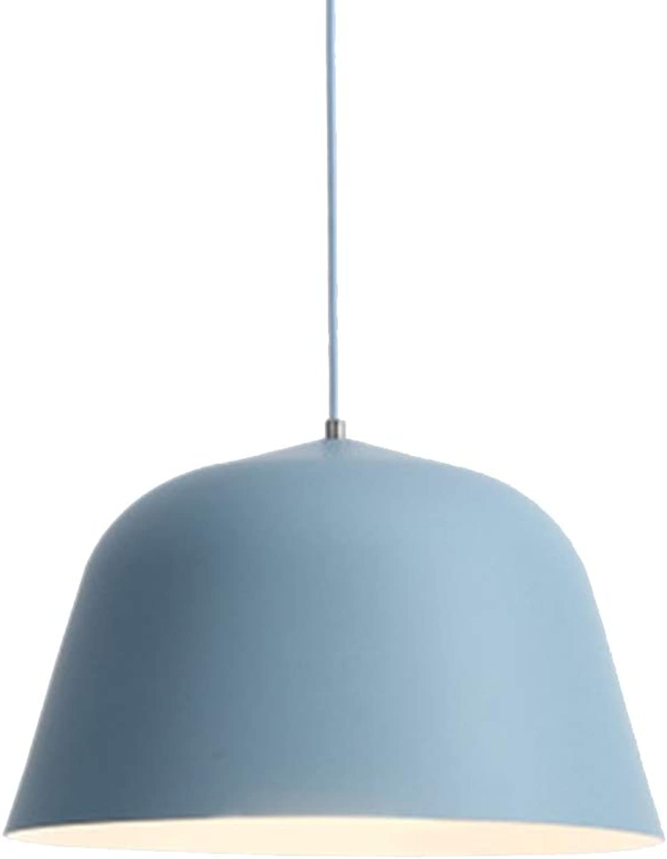 Verstellbarer Kronleuchter Macarons Nordic Restaurant Schlafzimmerstudie einfacher Kronleuchter,Blau,30X20cm