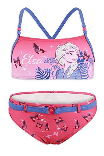 Disney Frozen 2 – Bikini 2 piezas playa piscina – niña – Producto original con licencia oficial 1865 Fucsia 100A