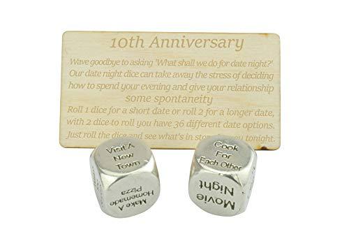 TIN Date Night Dice 10th Anniversary 100% Pure Tin - Create a Unique...