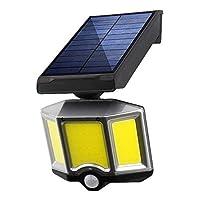 140ledソーラーウォールランプ屋外3モード人体誘導モーションセンシングストリートランプ防水庭の装飾安全ライト (Color : 66COB)