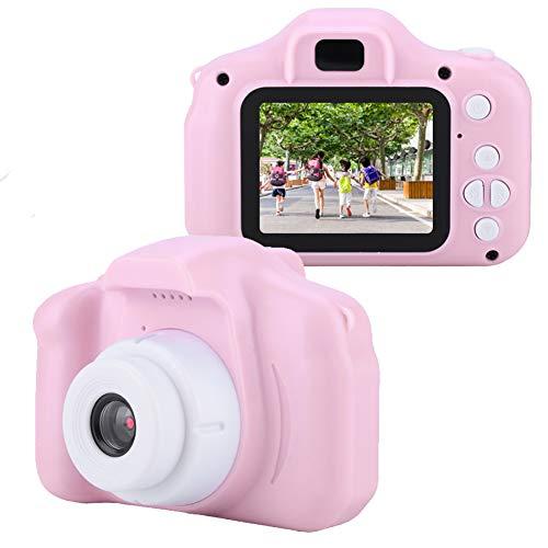 Yunir Mini portátil HD 1080P Cámara de Fotos/Video Digital para niños Cámara de Juguete para Viajes al Aire Libre Buenos Regalos para niños KDS con Pantalla a Color IPS de 2.0 Pulgadas(Pink)