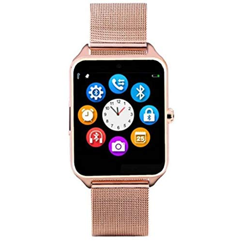 FKING Bewegungs-Tracker,Herzfrequenz-Aktivitätsmonitor,Touchscreen,Bluetooth,Tragbares Pedometer,Intelligentes Armband Mit Schlafmonitor,Schrittzähler-Gold
