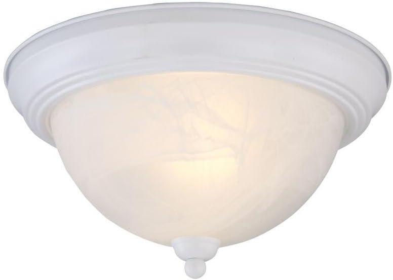 Textured White 5 Popular overseas ☆ popular Flushmount 2-Light