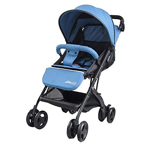 Little Bambino Passeggino da Viaggio Pieghevole per Neonati e Bambini | Passeggini Compatti | Passeggino Carrozzina per Bambini dai 6 ai 36 Mesi (Blu)